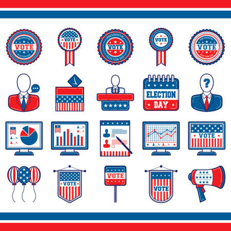 questionmark: CollectionofUSAelectionicons Illustration