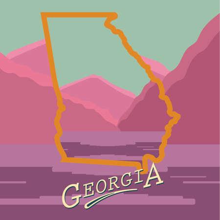 georgia: Georgia state map