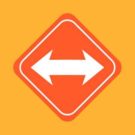flèche double: Double headed signe de flèche