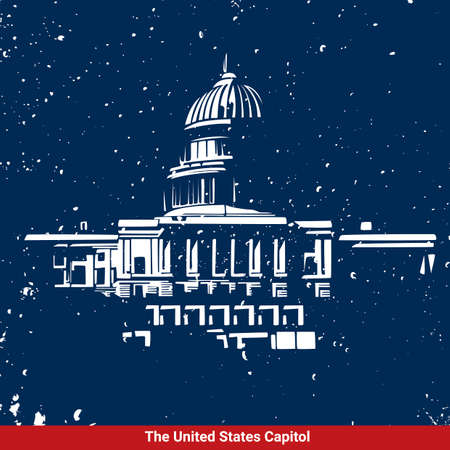 capitol building: USA capitol building Illustration