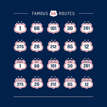 twenty six: Collection of famous routes Illustration