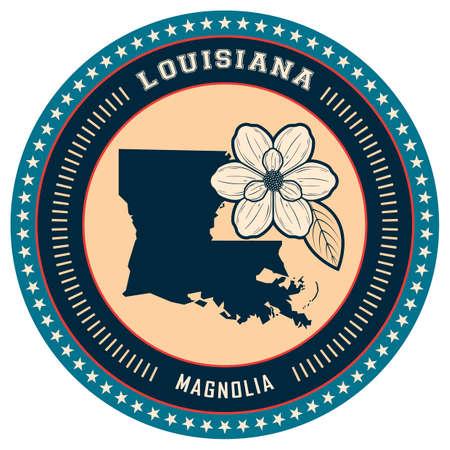 louisiana: Louisiana state label