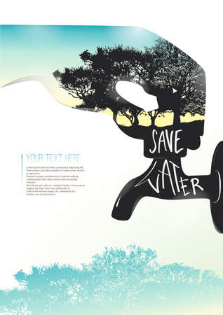 double tap: Savewaterposter