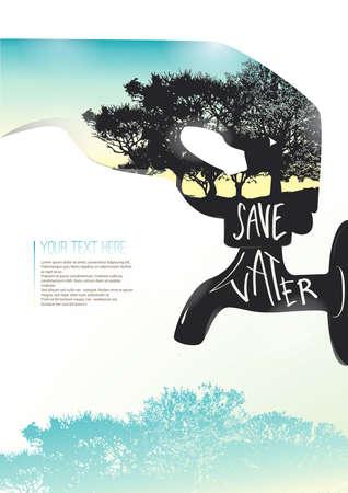 textspace: Savewaterposter