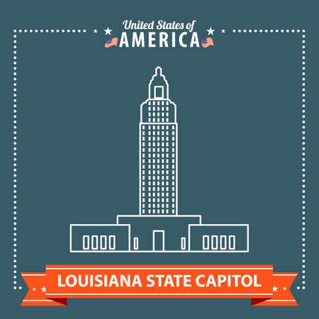 capitol: Louisiana state capitol Illustration