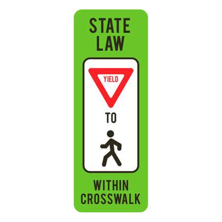 crosswalk: Ceda el paso a los peatones dentro del paso de cebra