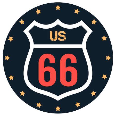 66: US route 66 label