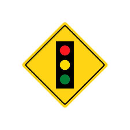 outdoor lights: Traffic lights road sign