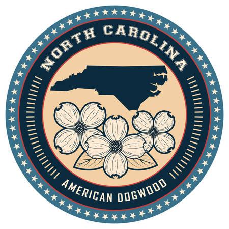 north carolina: North Carolina state label