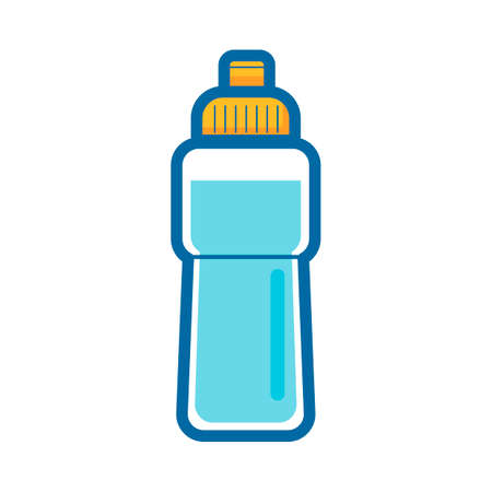 thirst quenching: Waterbottle Illustration