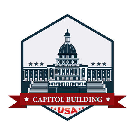 legislative: Capitolbuildinglabel Illustration
