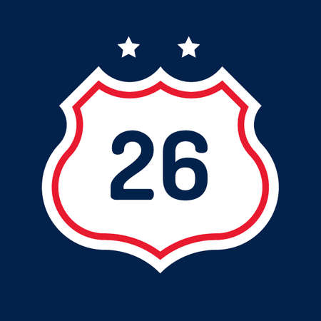 26: Route 26 road sign Illustration