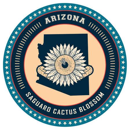 state of arizona: Arizona state label