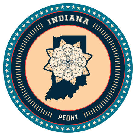 indiana: Indiana state label