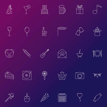 basic candy: Set of party icons