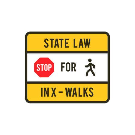znak drogowy: Road sign Ilustracja