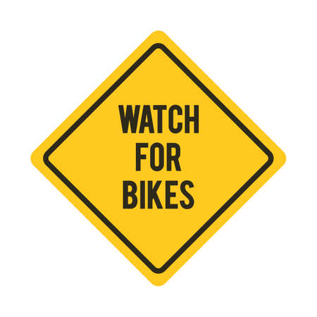 roadsigns: Watch for bikes road sign