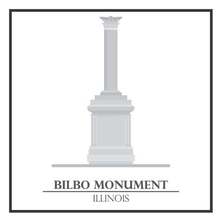 monument: Bilbo monument Illustration