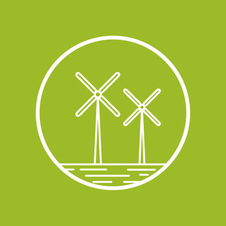 windturbines: Windturbines Illustration