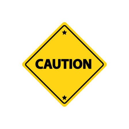 znak drogowy: Caution road sign Ilustracja