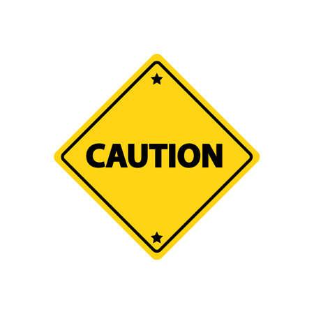 caution: Caution road sign Illustration