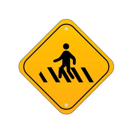 pedestrians: Pedestrians road sign
