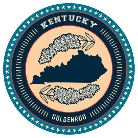 kentucky: Kentucky state label Illustration