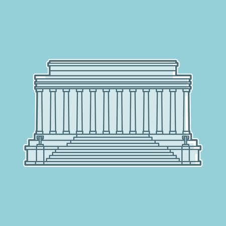 architecture pictogram: Lincoln memorial