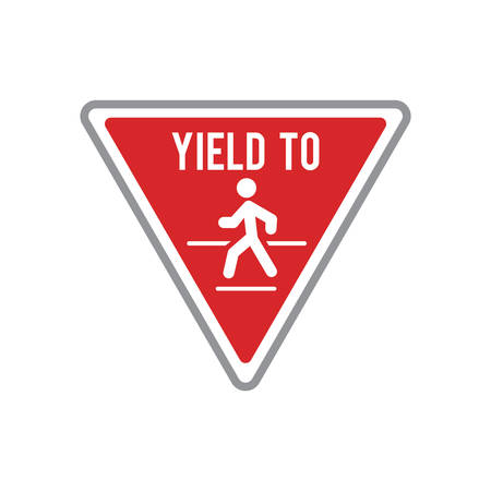 Yield to road sign