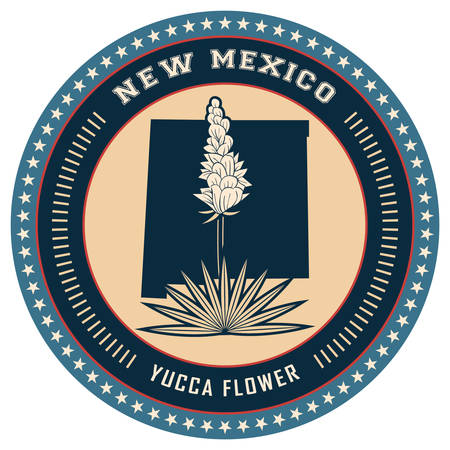 new mexico: New mexico state label