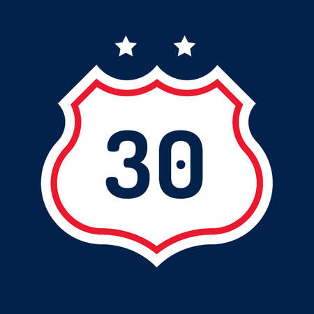 30: Route 30 road sign
