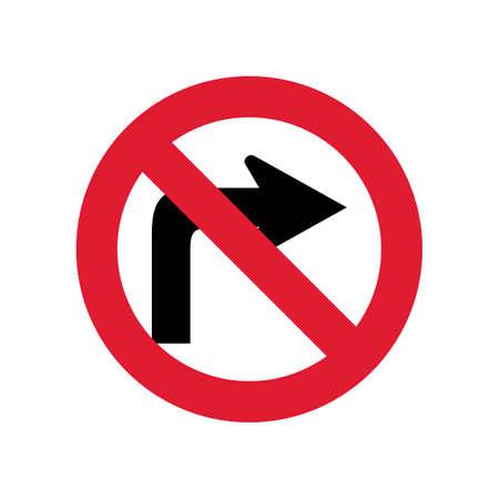 do: Do not turn right sign