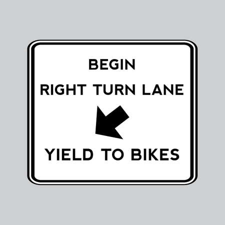 yield sign: Yield to bikes road sign