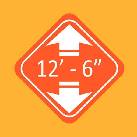 underpass: Underpass height sign