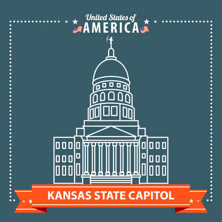the capitol: Kansas state capitol Illustration