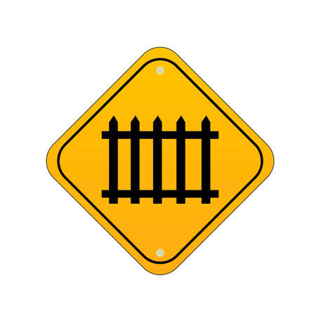 railroad crossing: Railroad crossing road sign Illustration