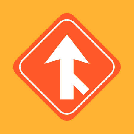 merge: Road merge traffic sign
