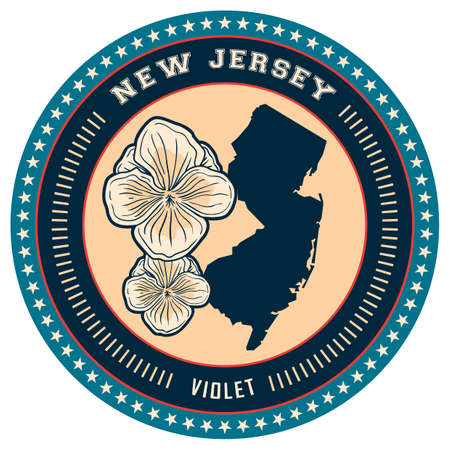 jersey: New Jersey state label