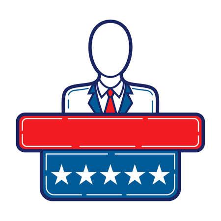 lectern: Electioncandidateatpodium Illustration