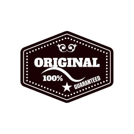 original: Hundred percent original label Illustration