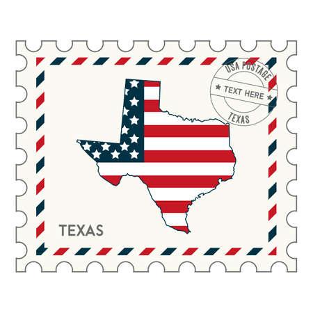 philately: Texaspostagestamp Illustration