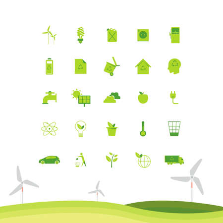 windturbines: Collectionofecologyicons