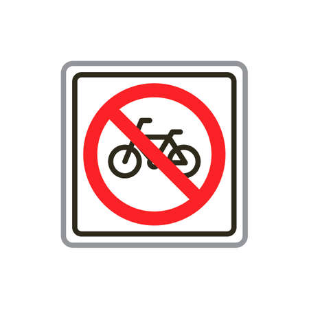 data entry: No bicycle road sign Illustration