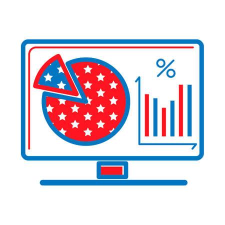 bargraph: Monitorshowingpiechartandbargraph