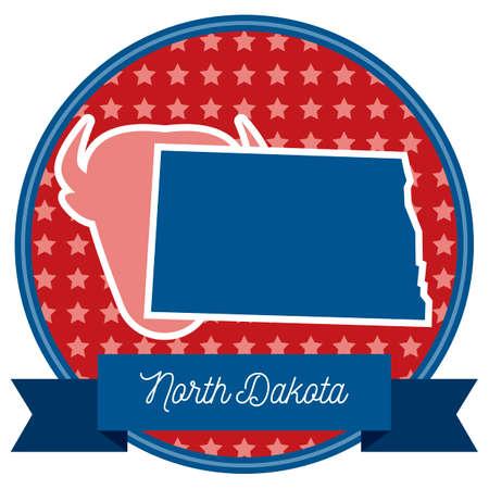 dakota: North dakota state Illustration