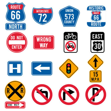 one hundred: Collection of route signs