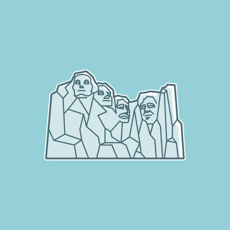 mount rushmore: Mount rushmore national monument Illustration