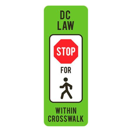 pedestrians: Stop for pedestrians within crosswalk