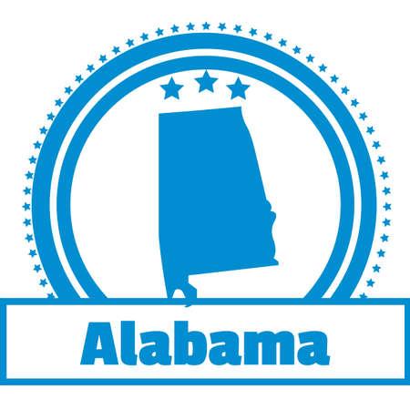 alabama state: Alabama state map label