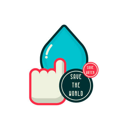 waterdrops: Savewatersavetheworld Illustration
